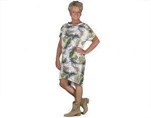 jurkje van L&Y met bladerenpatroon